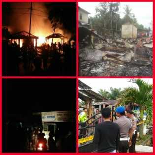 Subhanallah.., Rumah Kabaq Kesra Rohil Ini di Lalap Api