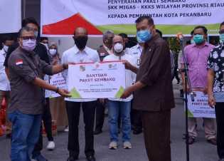 BPBD Pekanbaru Terima Bantuan Civid19 Dari Relawan Peduli Covid-19 Provinsi Riau
