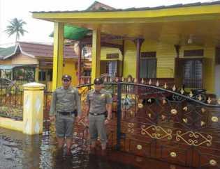 Rumah Bupati Rohil Jalan Madrasah Terendam Banjir