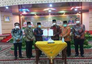 Serah Terima Jabatan Bupati dan Wakil Bupati Rohil Periode 2021-2026