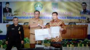 Pemkab Jalin Kerjasama Dengan Pihak Universitas Riau
