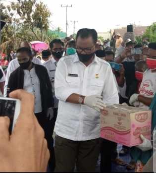 Bupati Suyatno di Dampingi Muspida Rohil Kunjungi Korban Kebakaran