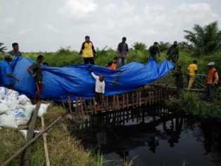 Kecamatan Bangko Bangun 14 Kanal Blocking