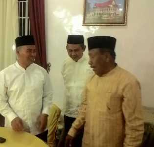Mantan Bupati Rohil Wan Thamrin Temui Pimpinan Fraksi di DPRD Riau