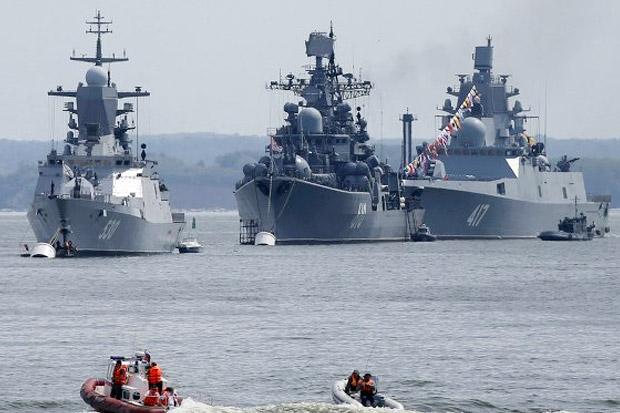 Kapal Perang Rusia Bersenjata Rudal Jelajah, Tiba di Suriah