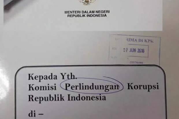 Akibat Salah Tulis Kepanjangan KPK, Staf Kemendagri ini Dipecat